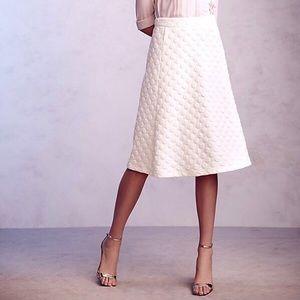 Anthropologie Jacquard Skirt